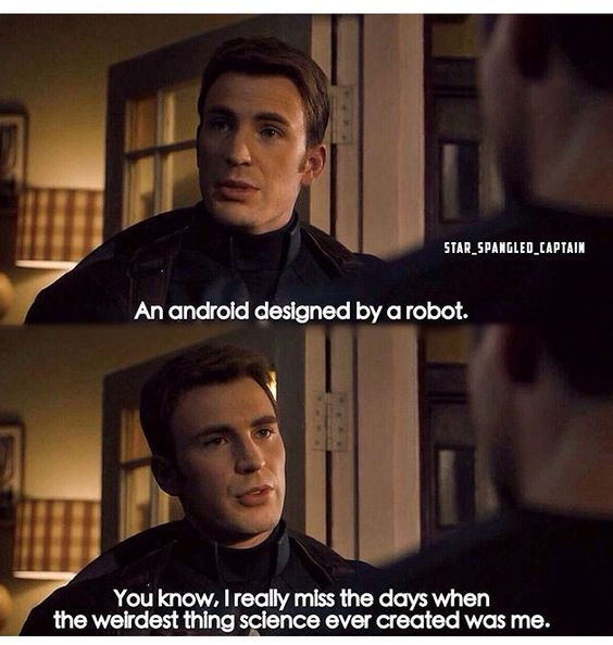 An Android Designed By Captain America Meme