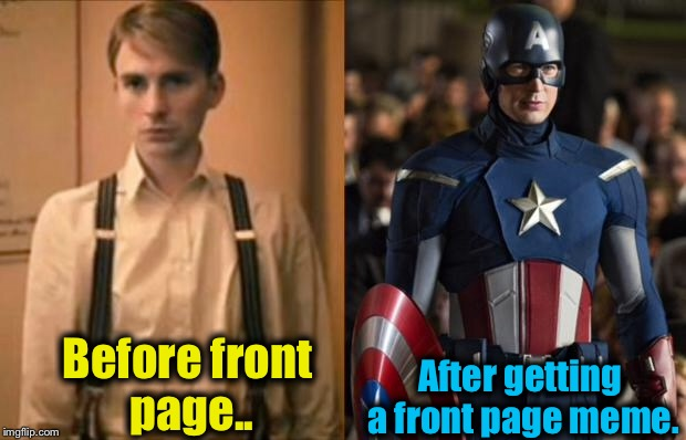 Before Front Page.. After Captain America Meme