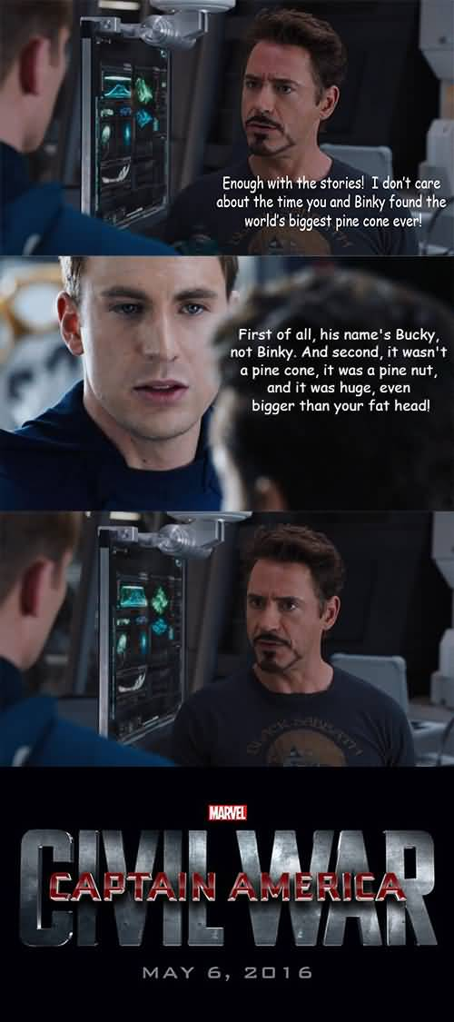 Enough With The Stories Captain America Meme