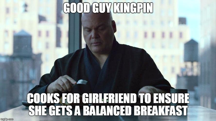 Good Guy Kingpin Cooks Daredevil Meme