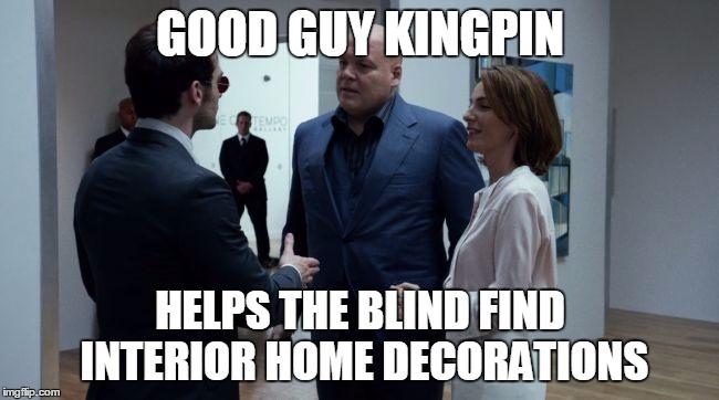 Good Guy Kingpin Helps Daredevil Meme