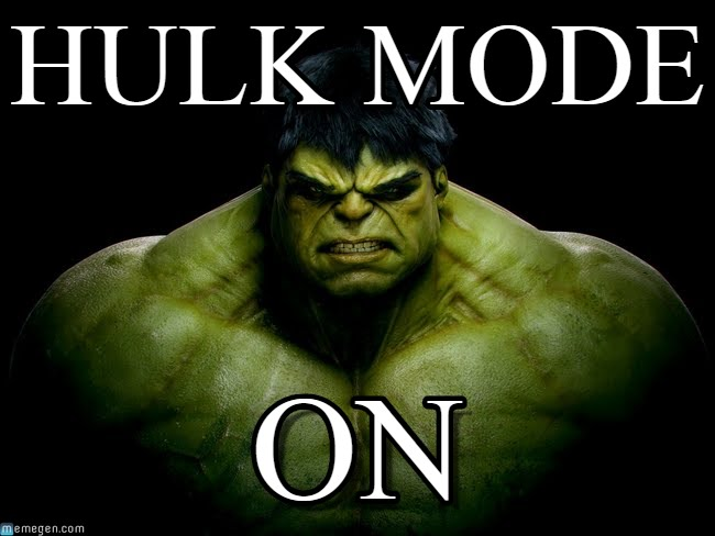Hulk Mode On Hulk Meme