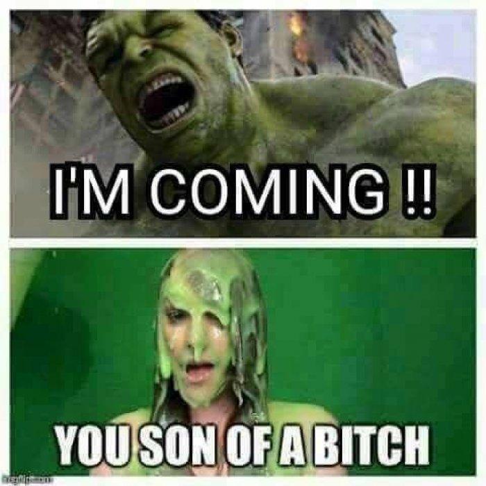 I'm Coming!! You Son Hulk Meme