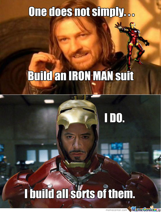 One Does Not Simply Iron Man Meme