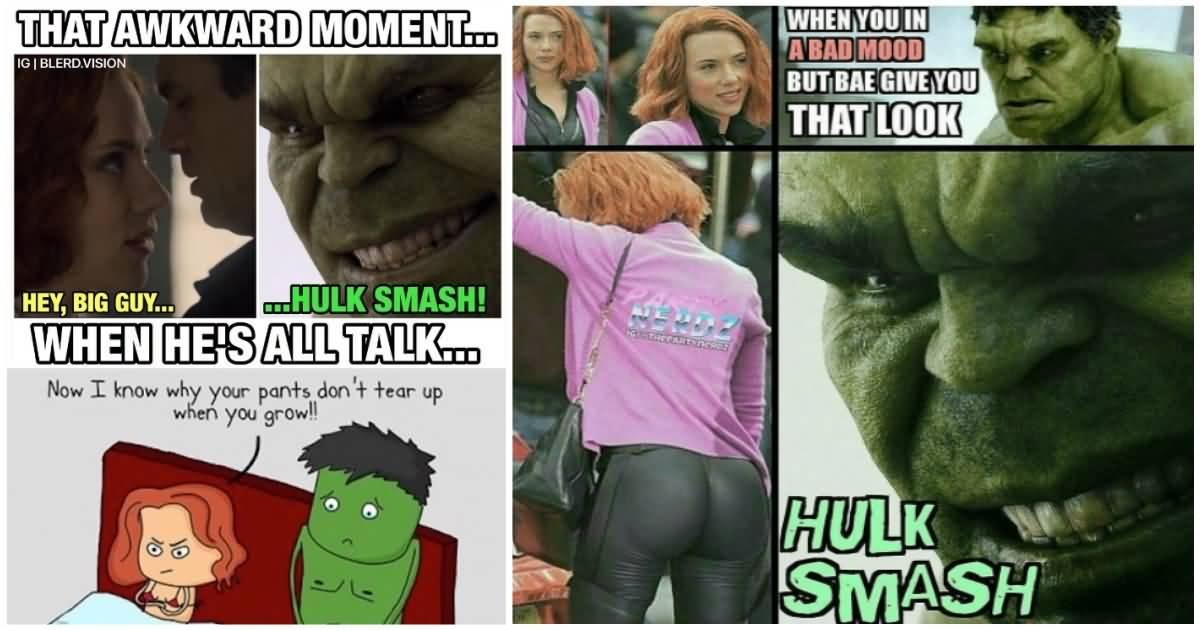 That Awkward Moment When Hulk Meme