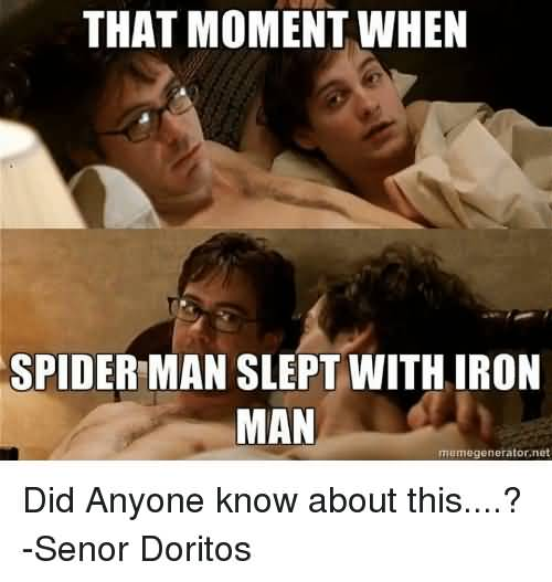 That Moment When Spider Iron Man Meme