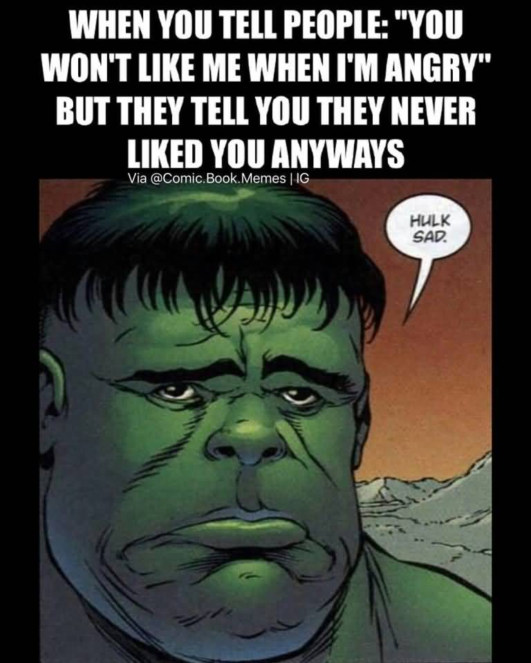 When You Tell People Hulk Meme