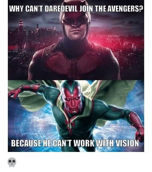 Why Can't Daredevil Join Daredevil Meme