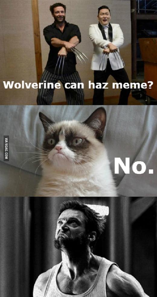 Wolverine Can Haz Meme Wolverine Meme