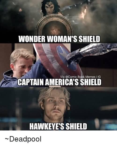 Wonder Woman's Shield Captain Captain America Meme