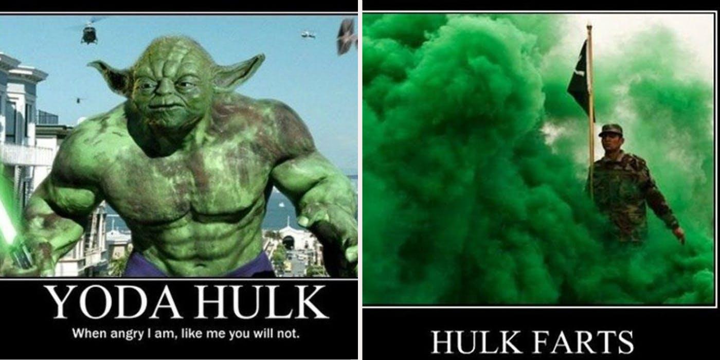 Yoda Hulk When Angry Hulk Meme