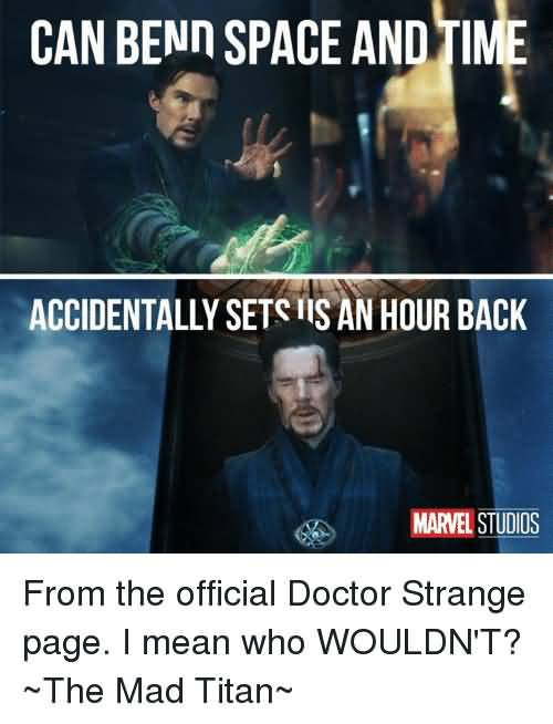 Can Bend Space And Doctor Strange Meme