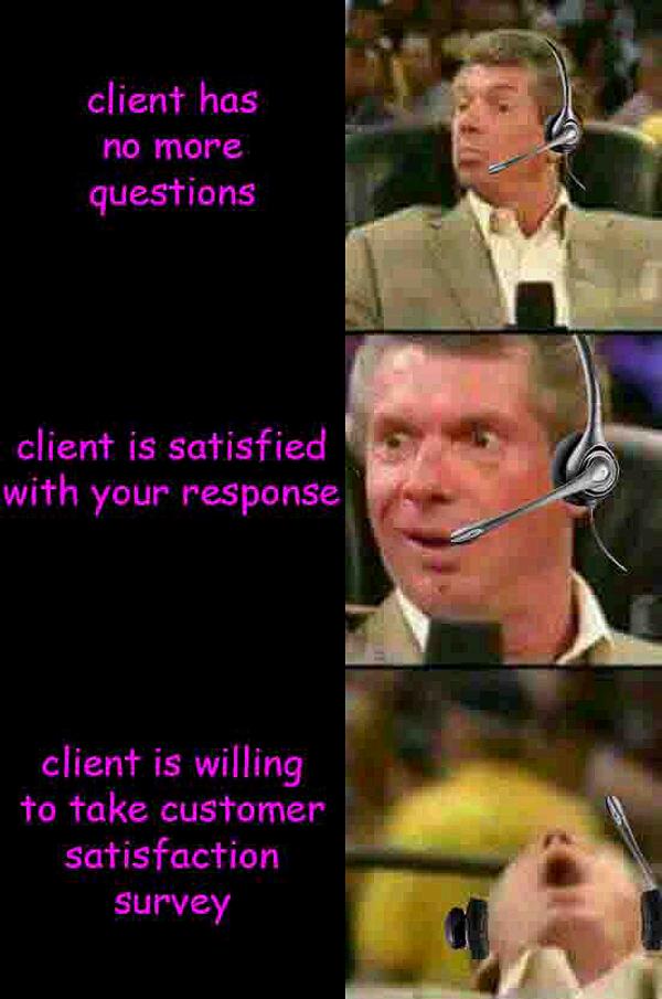 Client Has No More Vince McMahon Meme