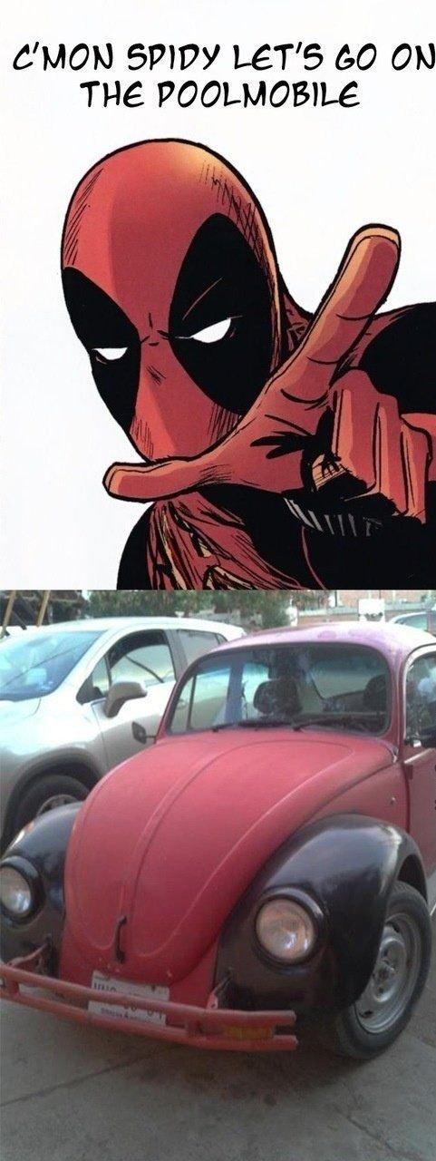 C'mon Spidy Let's Go Deadpool Meme