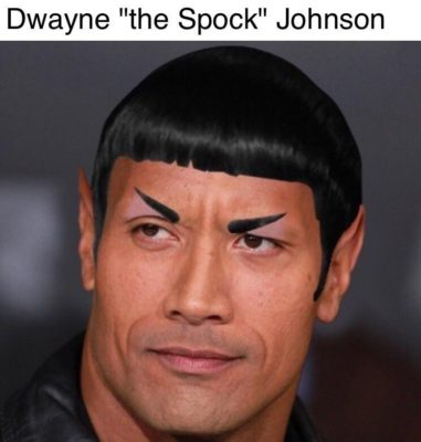 Dwayne The Spock Johnson The Rock Meme