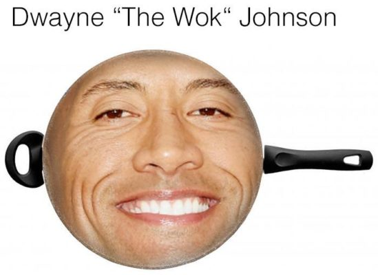Dwayne The Wok Johnson The Rock Meme