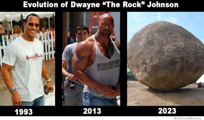 Evolution Of Dwayne The The Rock Meme