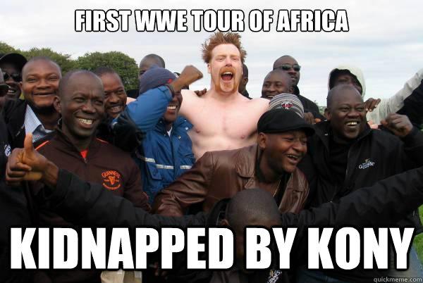 First Wwe Tour Of Sheamus Meme