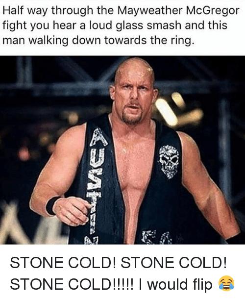 Half Way Through The Stone Cold Meme