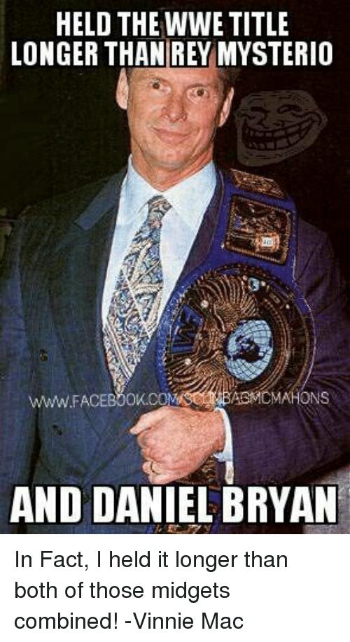 Held The WWE Title Rey Mysterio Meme