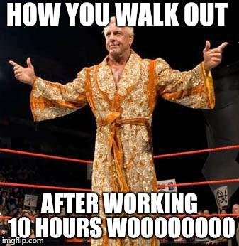 How You Walk Out Ric Flair Meme