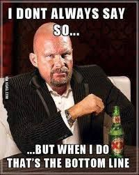 I Don't Always Say Stone Cold Meme