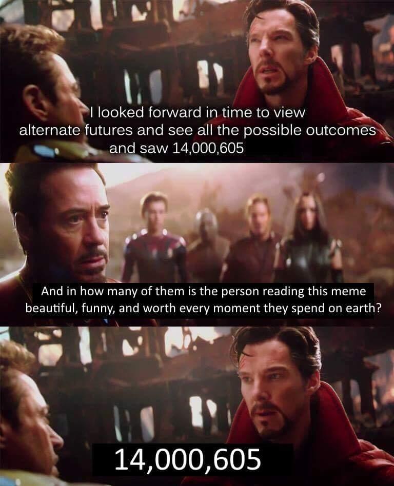 I Looked Forward In Doctor Strange Meme