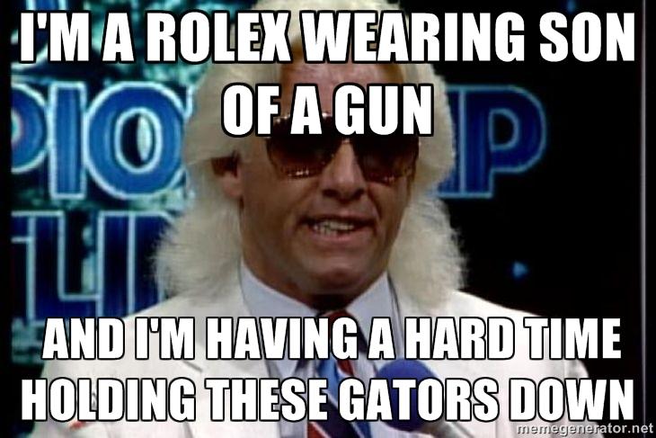 I'm A Rolex Wearing Ric Flair Meme