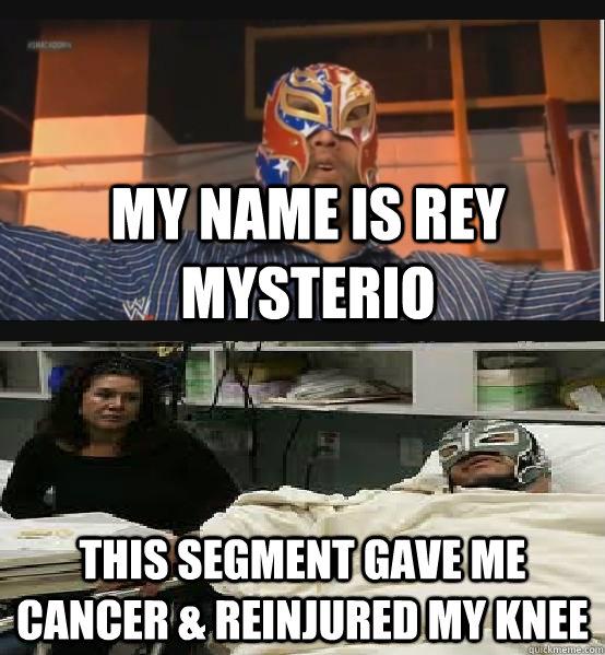 My Name Is Rey Rey Mysterio Meme