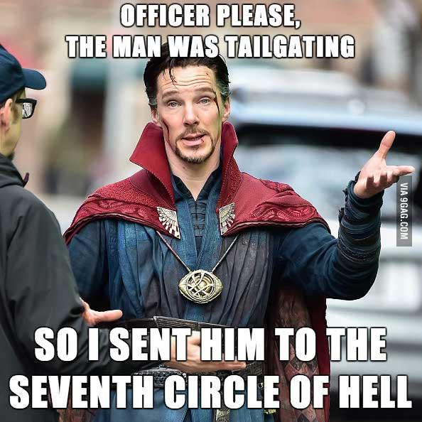 Officer Please The Man Doctor Strange Meme