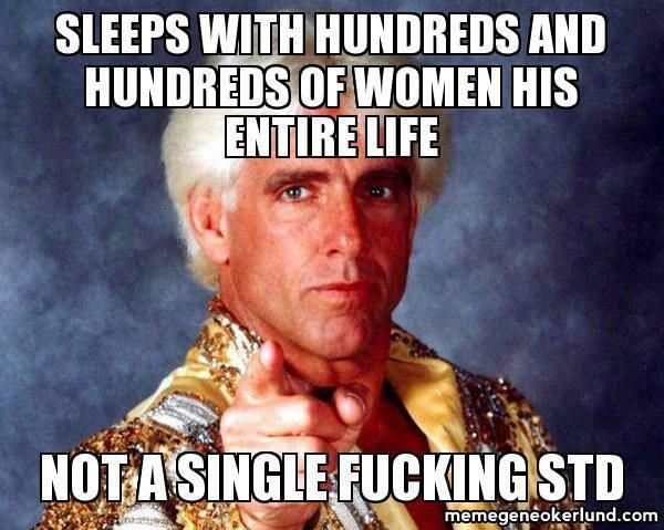 Sleeps With Hundreds And Ric Flair Meme