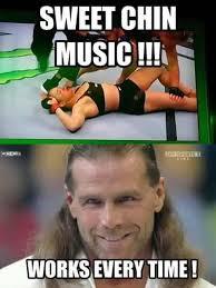 Sweet Chin Music!!! Works Shawn Michaels Meme