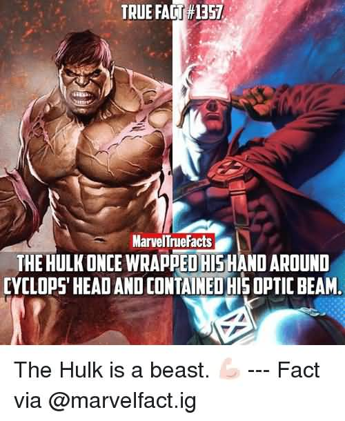The Hulk Once Wrapped Cyclops Meme