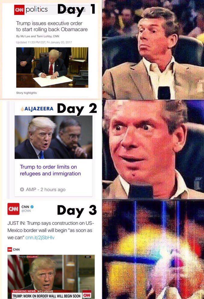 Trump Isses Executive Order Vince McMahon Meme