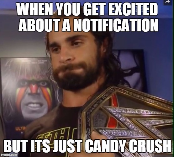 When You Get Excited Seth Rollins Meme