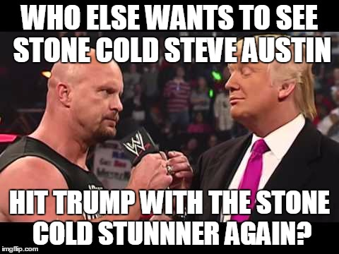 Who Else Wants To Stone Cold Meme