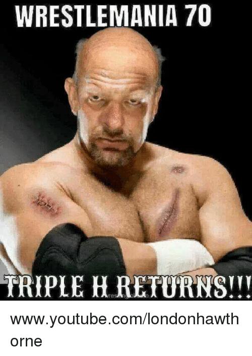 Wrestlemanis 70 Triple H Triple H Meme