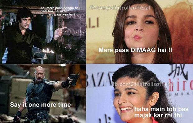 Aaj Mere Paas Bangla Alia Bhatt Meme