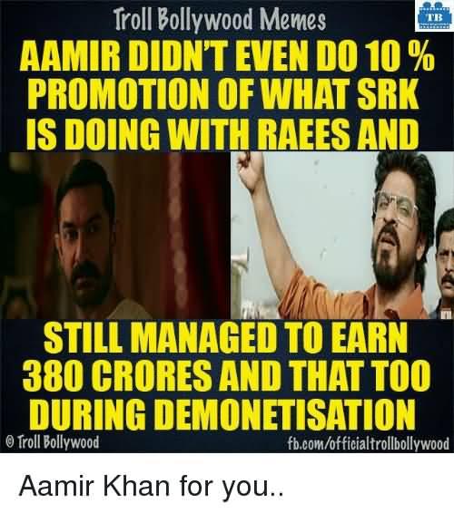 Aamir Didn't Even Do Aamir Khan Meme