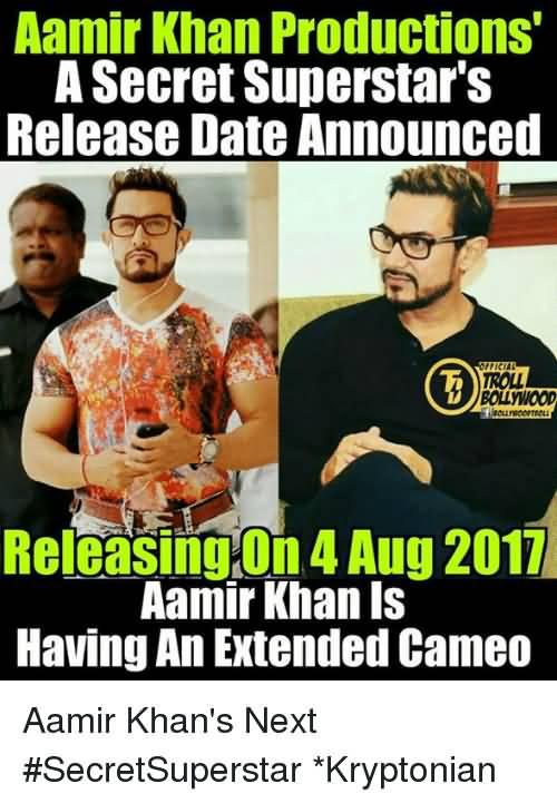 Aamir Khan Productions A Aamir Khan Meme
