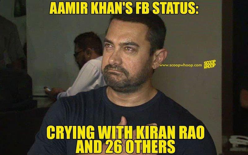Aamir Khan's FB Status Aamir Khan Meme