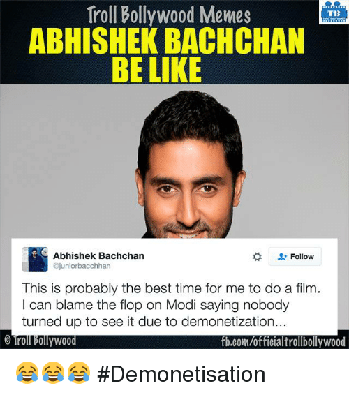 Abhishek Bachchan Be Like Abhishek Bachchan Meme