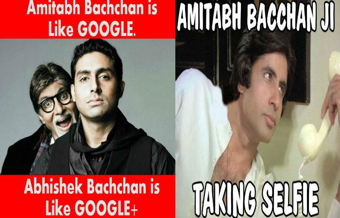Amitabh Bachchan Is Like Abhishek Bachchan Meme