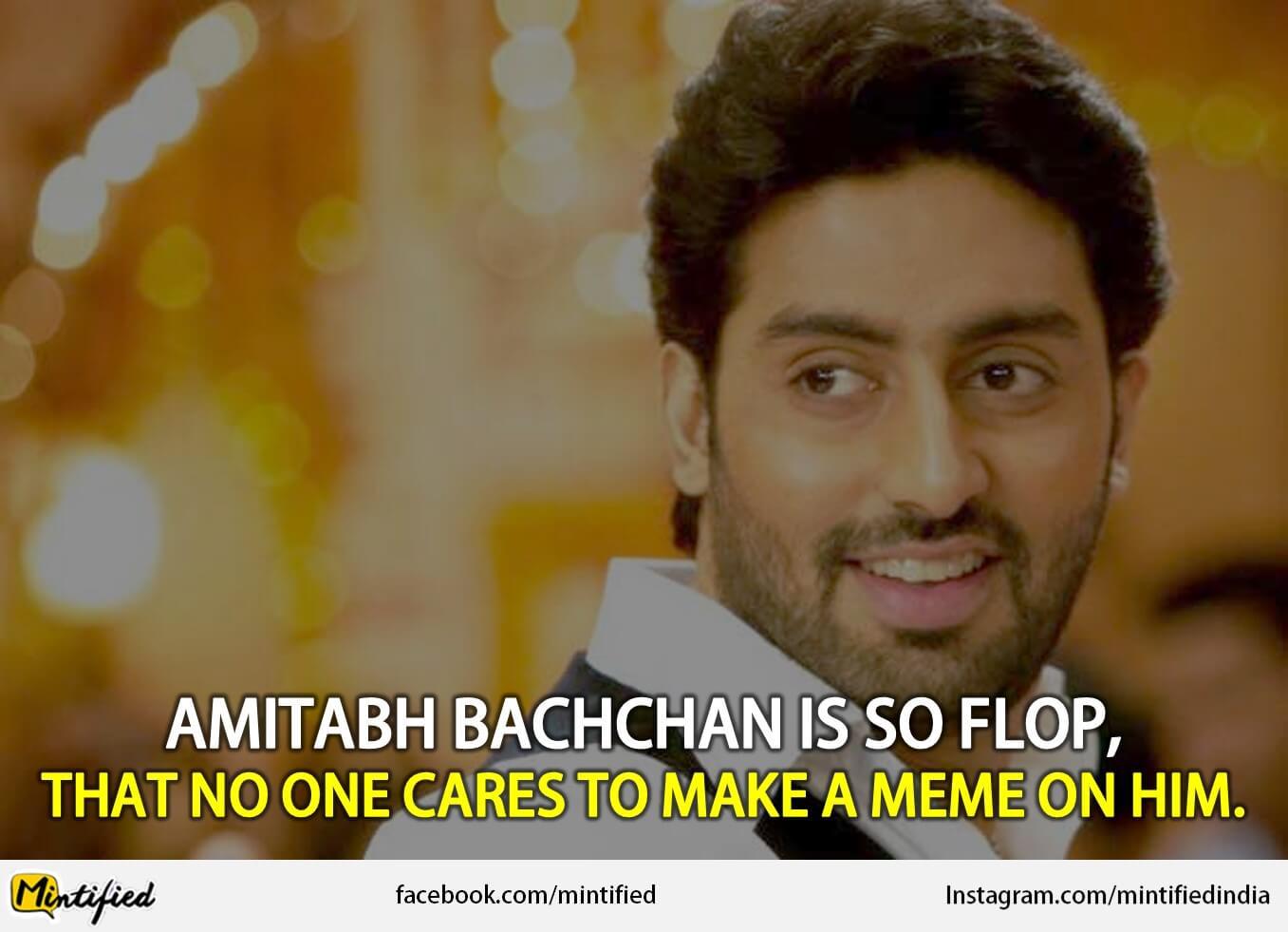 Amitabh Bachchan Is So Abhishek Bachchan Meme