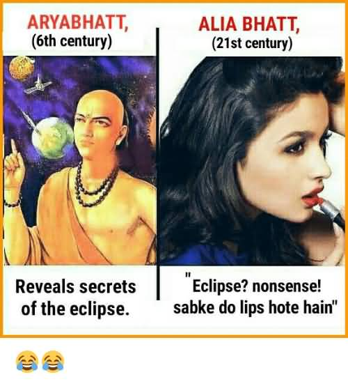 Aryabhatt Revelas Secrets Of Alia Bhatt Meme