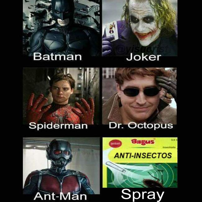 Batman Joker Spiderman Dr. Octopus Ant Man Meme