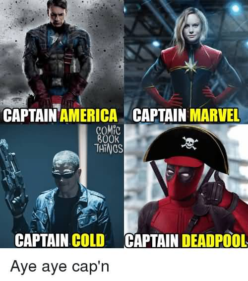 Captain America Captain Marvel Captain Marvel Meme