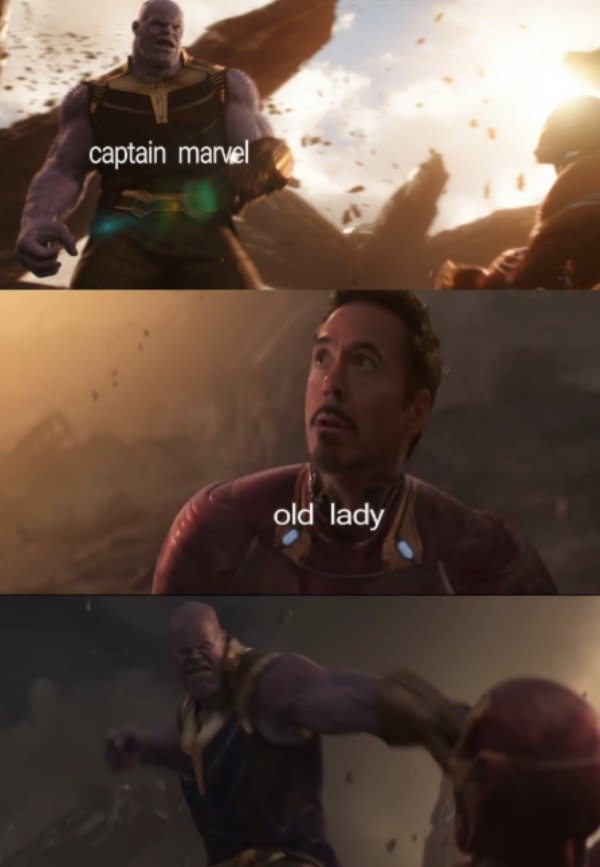Captain Marvel Old Lady Captain Marvel Meme