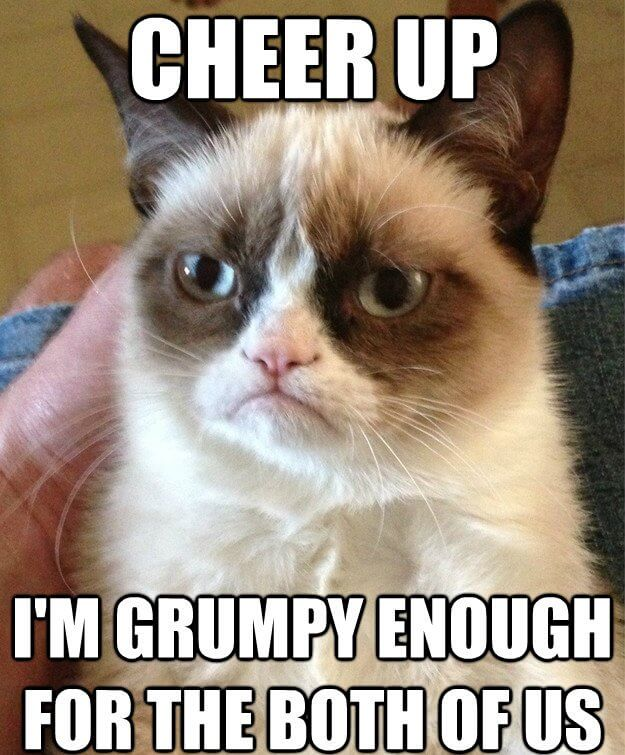 Cheer Up I'm Grumpy Cheer Up Meme