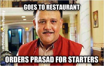 Goes To Restaurant Orders Alok Nath Meme